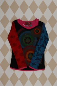Desigual -  t-shirt  im layer look  mit cut-outs - 116