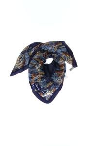Jehan de Fabrègues - seidentuch mit floralem muster -