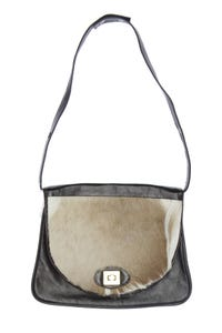 Kane-m - handtasche mit echt-pelz-besatz - ONE SIZE