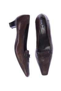 Luca Ferri - echt-leder-loafer mit riegeln -