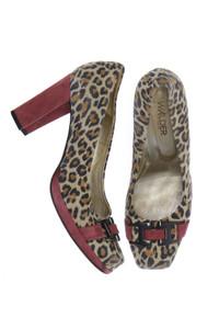 WALDER Schuhe - pumps mit leo-print -