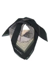 Leonardi - streifen-seidentuch mit logo-print -