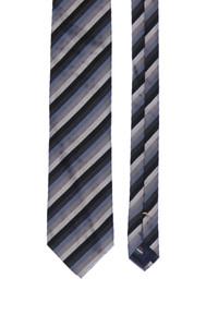 PROFUOMO - seiden-krawatte mit streifen -