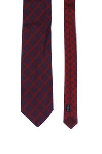 Papillon - two tone-seiden-krawatte mit karo-muster -