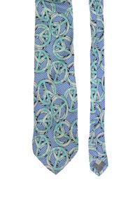 MOSCHINO - seiden-krawatte im hippie-stil -