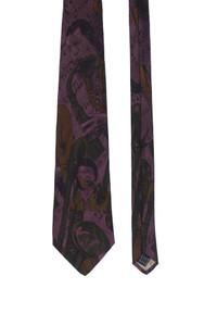 ELLE ET LUI - muster-seiden-krawatte -