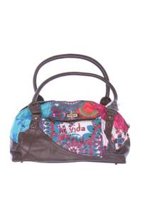 Desigual - handtasche mit logo-stickerei -