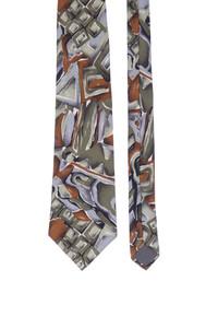 pierre cardin paris - seiden-krawatte mit print -