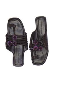 SIGERSON MORRISON - echt-leder- zehentrenner-sandalen  mit applikationen -