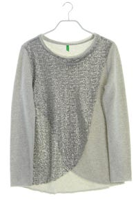 UNITED COLORS OF BENETTON - sweatshirt in wickel-optik mit pailletten - S