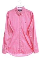 TOMMY HILFIGER - button-down oxford-hemd mit logo-stickerei - L