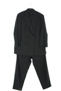 Yves Saint Laurent - zweireiher-vintage-anzug aus schurwolle mit nadelstreifen - 52