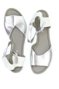 ARA - metallic-sandaletten aus echtem leder -