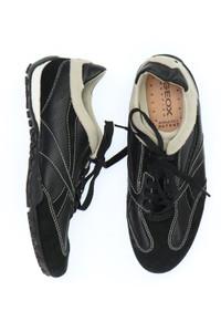 GEOX RESPIRA - echt-leder-low-top sneakers mit logo-prägung -