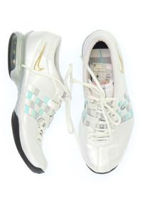 NIKE - metallic-low-top sneakers mit logo-stickerei -
