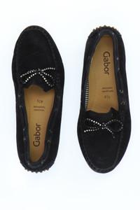 GABOR - veloursleder-loafer mit strass-steinen -