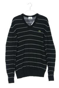 LACOSTE - baumwoll-pullover mit streifen - M