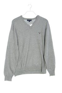 GANT - baumwoll-strick-pullover mit v-neck mit logo-applikation - L