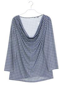 Ohne Label - 3/4-arm-shirt mit wasserfall-ausschnitt - D 42