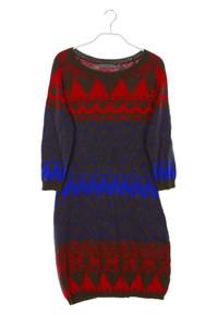 MONTEGO - muster-kleid aus baumwolle mit 3/4-ärmel - S