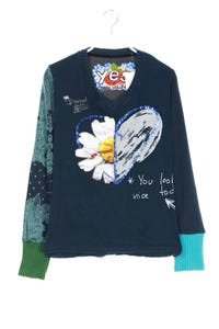 Desigual - shirt  mit applikationen - M