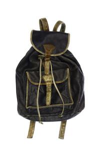 HAROLD´S - vintage-rucksack mit logo-plakette - ONE SIZE