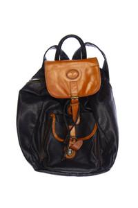 PIGEON 7910 - rucksack aus leder mit logo-prägung -