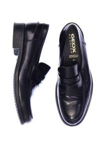 GEOX RESPIRA - echt-leder-loafer mit logo-prägung -
