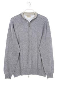 Scott & Charters - vintage-lambswool-cardigan mit reißverschluss - 48