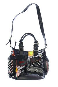 Desigual - handtasche mit logo-stickerei - ONE SIZE