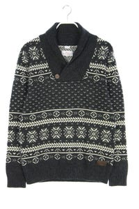 s.oliver - norweger-strick-pullover aus woll-mix - L