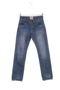 Levi´s - used look-jeans mit logo-badge - 164