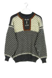 Nordstrikk - norweger-pullover aus reiner schurwolle - M