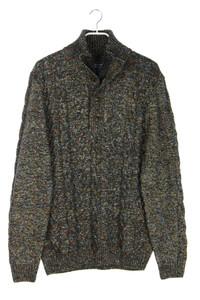 pierre cardin - troyer-pullover aus woll-mix mit zopf-muster - XL