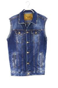 ZARA MAN - jeans- weste im used look - S