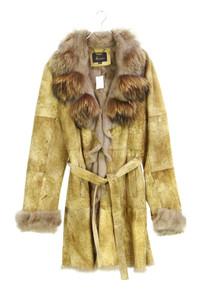 TRAPPER Queens - echt-leder-mantel mit echt-pelz-besatz - D 42