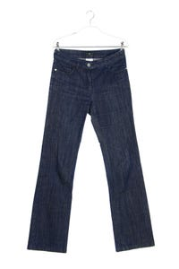 RENA LANGE - used look bootcut-jeans mit logo-patch - W29