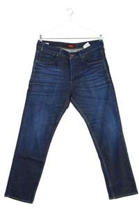 JACK & JONES - used look straight cut jeans mit logo-badge - W36