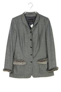 RENA LANGE - blazer-jacke aus woll-mix mit echt-pelz-besatz - D 38