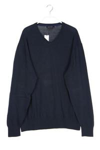 NAVYBOOT - baumwoll-strick-pullover mit v-neck - XXL