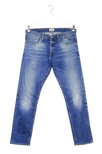 Hilfiger Denim - used look slim-jeans mit logo-patch - W34