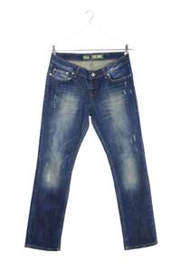 LTB - used look straight cut jeans mit logo-knöpfen - W31