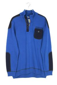 TOM TAILOR - troyer-pullover aus baumwolle mit stickereien - XXL