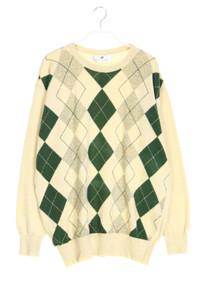 BALLANTYNE - lambswool-pullover mit argyle-muster - M