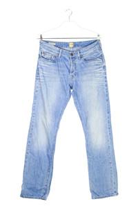 BOSS ORANGE - used look straight cut jeans mit logo-knöpfen - W34