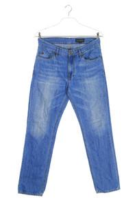 Marc O´Polo - used look straight cut jeans mit logo-stickerei - W31