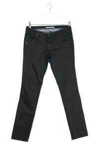 NILE atelier - coated skinny-jeans im biker-stil mit logo-patch - S