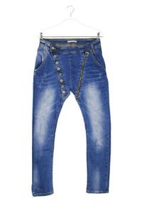 Please - used look skinny-jeans mit zipper - L