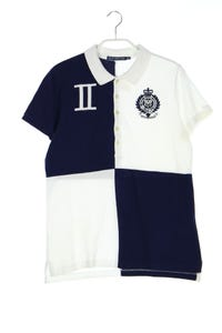 RALPH LAUREN SPORT - two tone-polo-shirt mit logo-stickerei - L