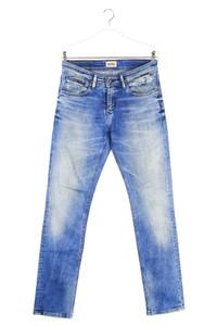Hilfiger Denim - used look straight cut jeans mit logo-badge - W29